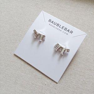 NWT BaubleBar Deco Baguette Ear Crawler - Silver